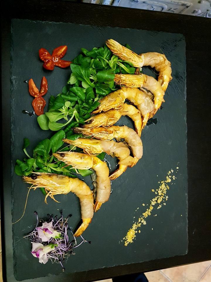 Gamberi con verdure e pomodoro a Ferrera Erbognone