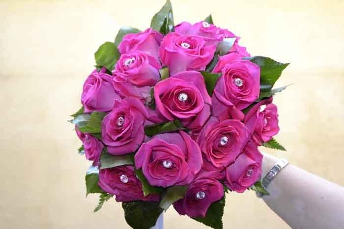 bouquet di fiori viola
