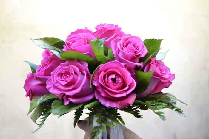 mazzo di rose viola