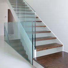 glass staircase bespoke glass staircase