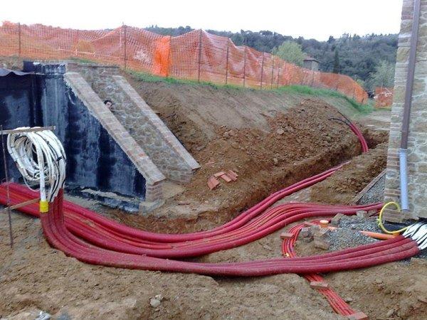 scavi per realizzazione impianto di depurazione
