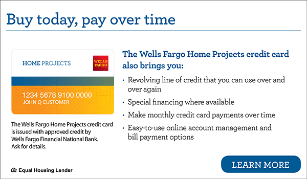 Visa  Home Projects Credit Card