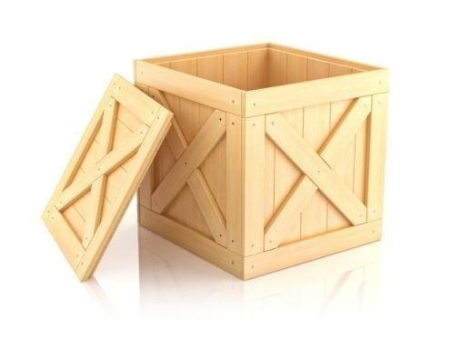 Cassa in legno chiaro Alto Milanese