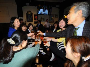 Cheers at Happy Hour in Nagoya