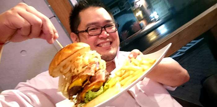 Enjoying King Burger