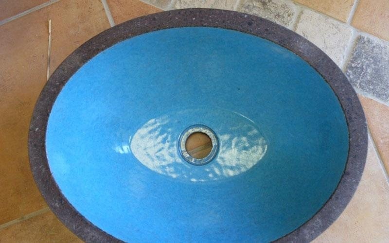 lavabo smaltato azzurro enna