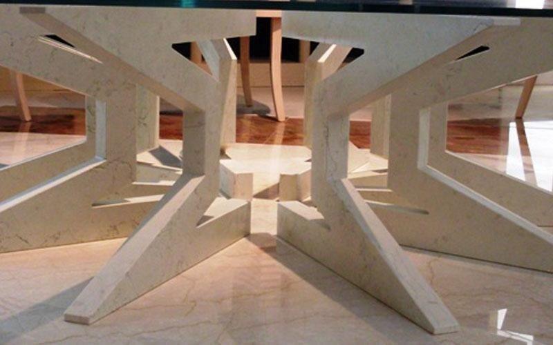 tavolino a stella in biancone enna