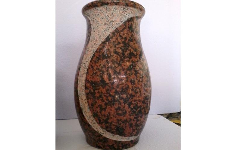 vaso granito rosso enna