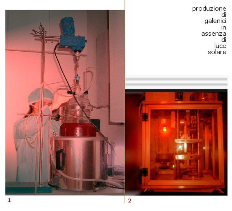 produzione di galenici in assenza di luce solare