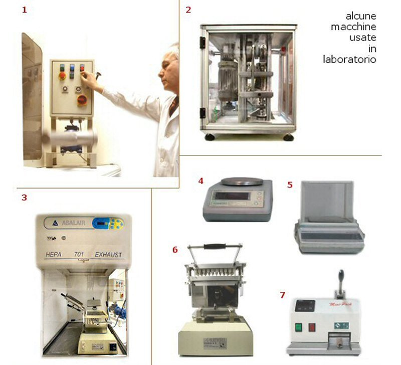 alcune macchine usate in laboratorio