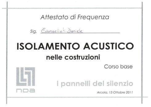 certificazione isolamento acustico