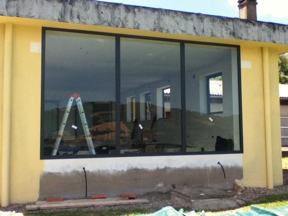 vetrata in alluminio pvc