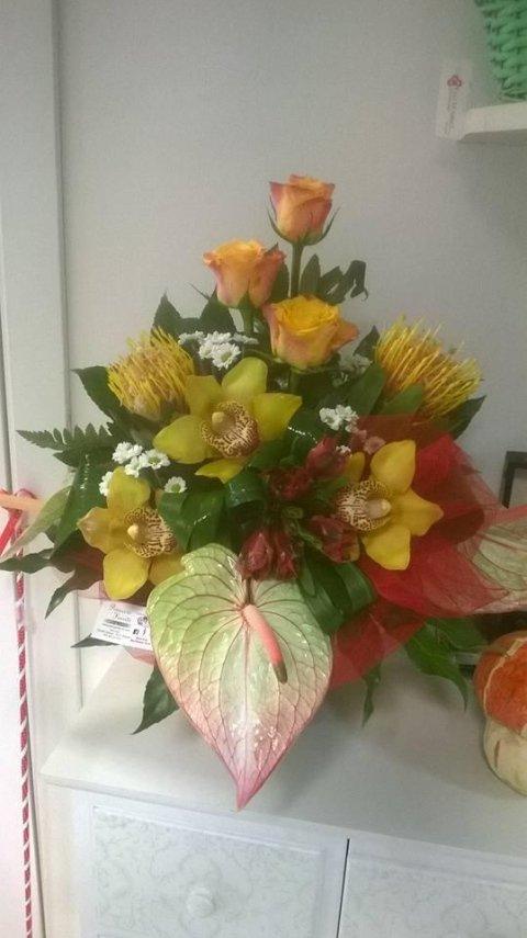 anthurium, rose e orchidee