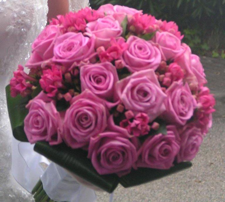 bouquet rose fucsia