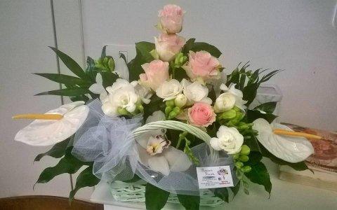 rose, fresie, anhturium e orchidee