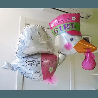palloncini per nascita bimba, balloon