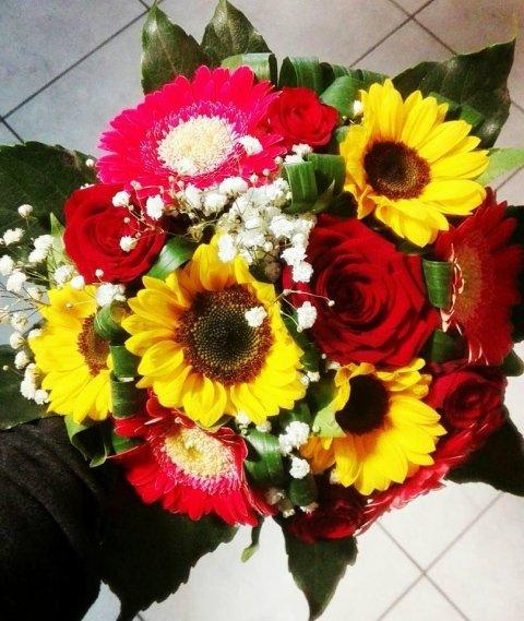 bouquet di fiori per laurea