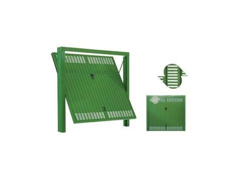 Porta basculante con fori rettangolari