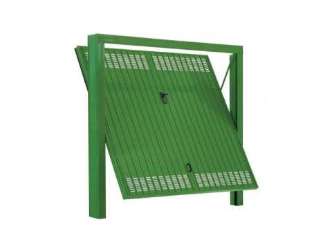 Porta basculante verde