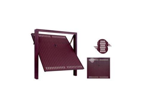 Porta basculante con fori  romboidiali e accessori