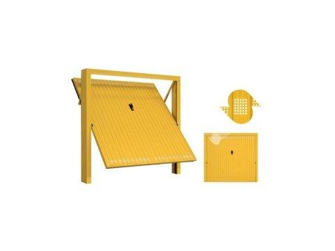 Porta basculante con fori quadrati e accessori