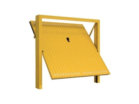 Porta basculante con fori quadrati