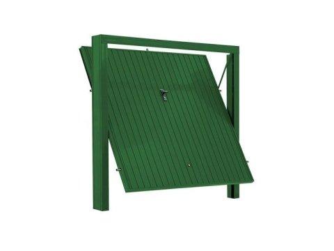 Porta basculante modello sicurezza color verde