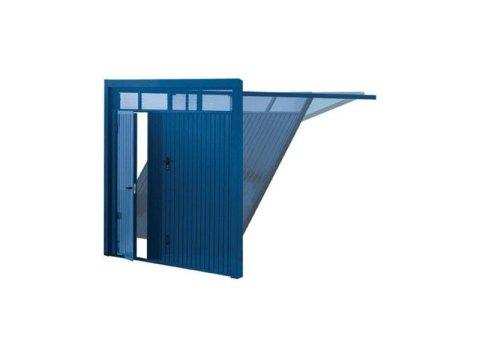 Porta basculante Non Debordante color azzurra