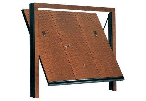 modello verticale porta basculante in legno