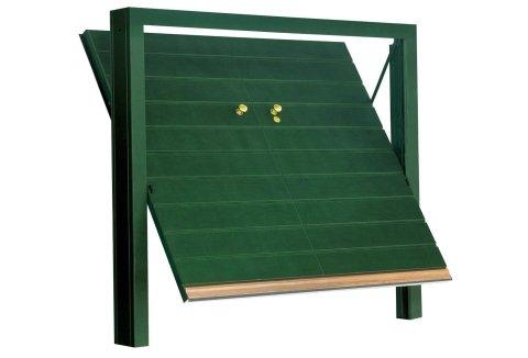 modello orizzontale porta basculante in legno