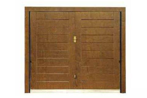modello orizzontale tecnco porta basculante in legno-vista frontale