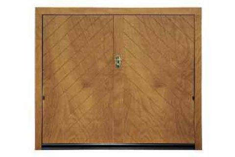 Porta basculante in legno - Modello Lisca-vista frontale
