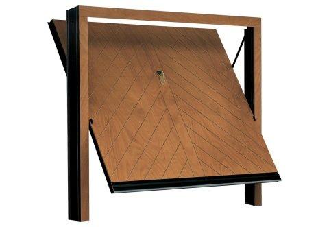 Porta basculante in legno - Modello Lisca