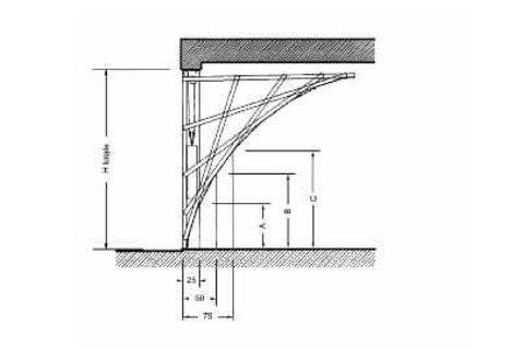 Porta basculante in legno - Modello Filo -Progettazione