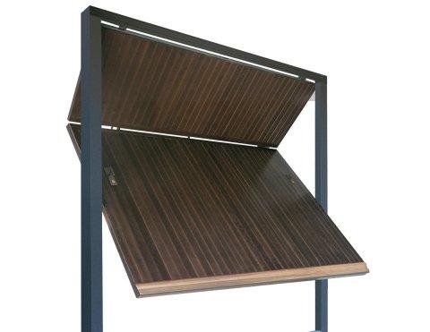 Porta basculante in legno - Modello Snodato