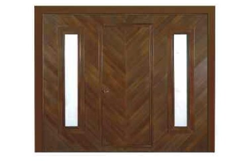 Porta basculante in legno -Finestrature-vista frontale