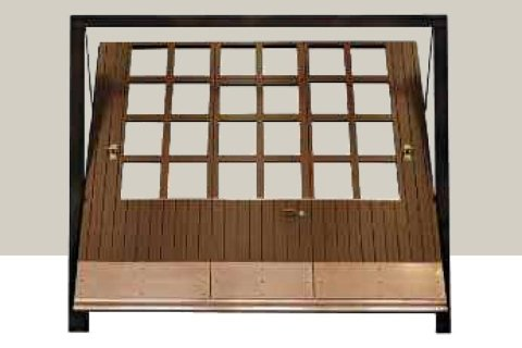 Porta basculante in legno - Finetrature -rettangolari