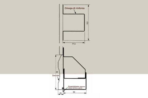 progettazione per porta basculante