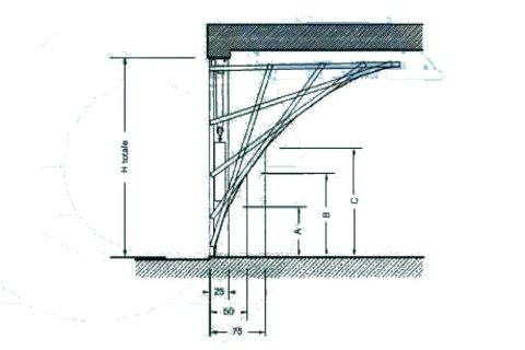 porta basculante speciale -non debordante progettazione