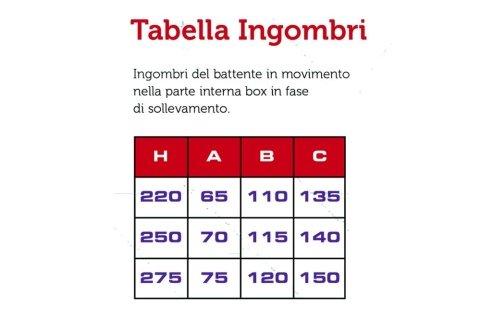 Tabella Ingombri
