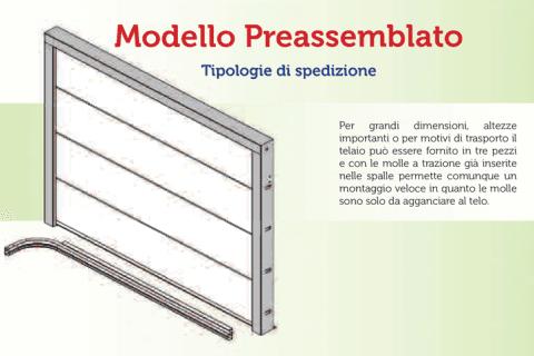 modello pre-assemblato-tipologie di spedizione