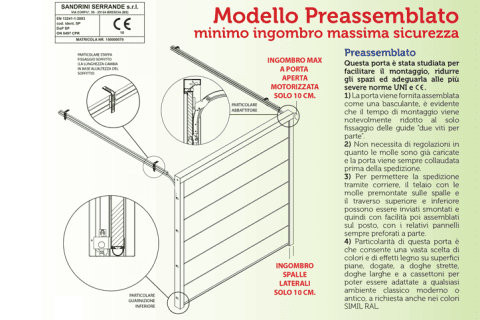 modello pre-assemblato-disegno minimo ingombro-massima sicurezza