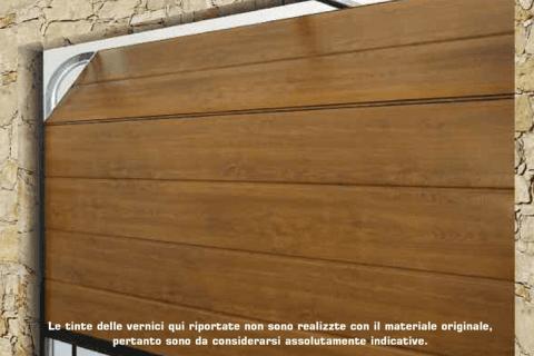 porta basculante in legno secondo Conformità europea