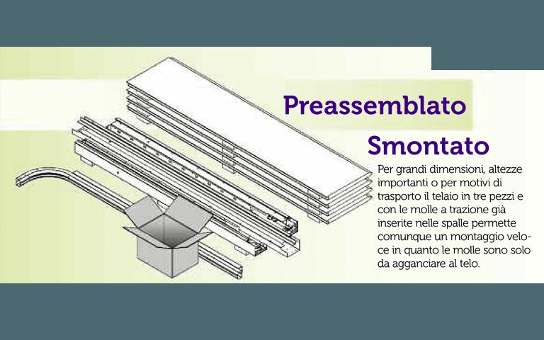 Tipologie di fornitura e consegna - Preassemblato Smontato