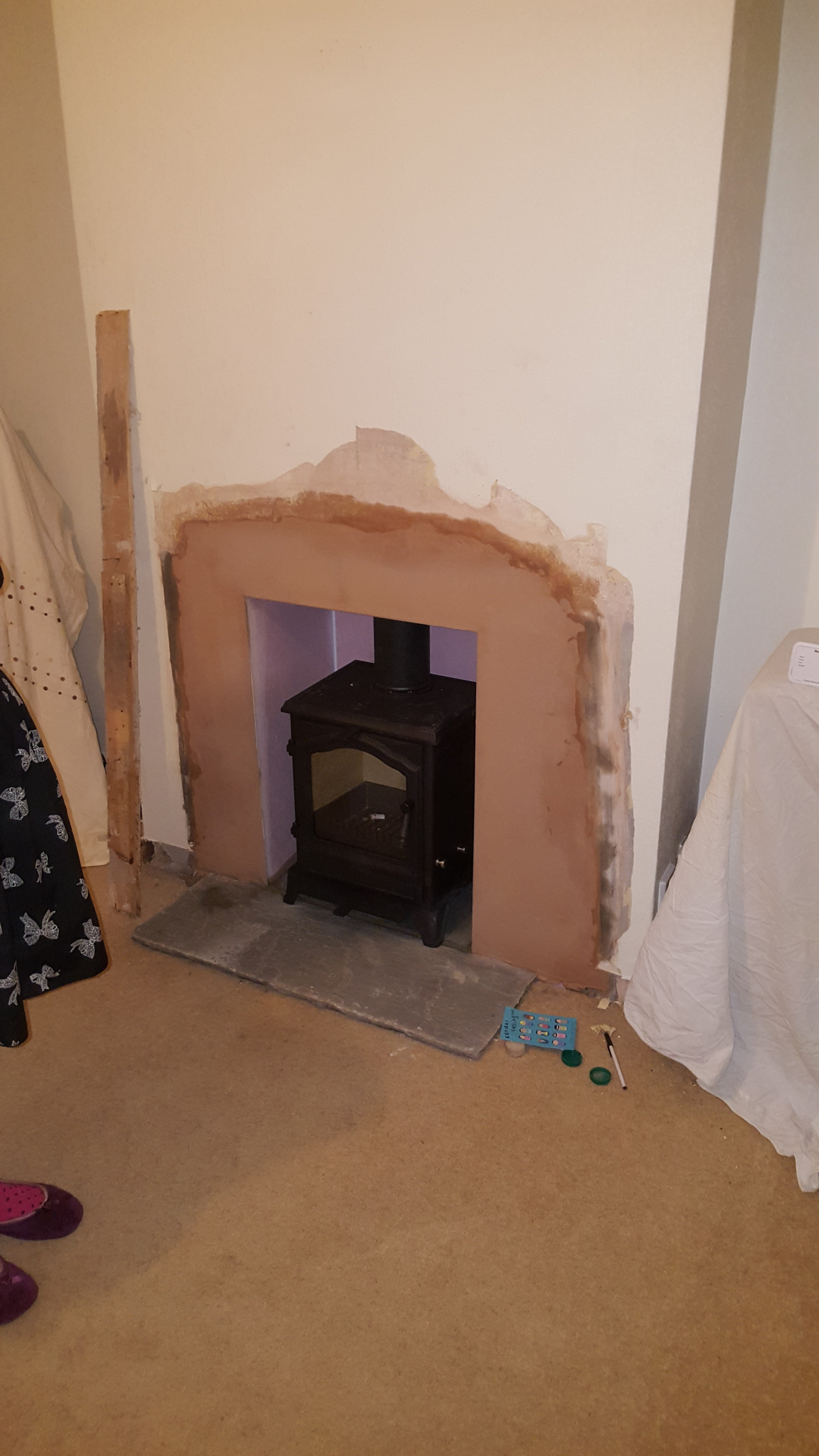 smaller sized layout for fireplace