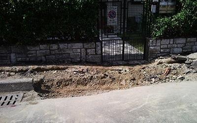 scavo alacciamento gas