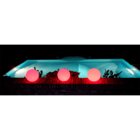 Luci galleggianti colorate rosse per piscina