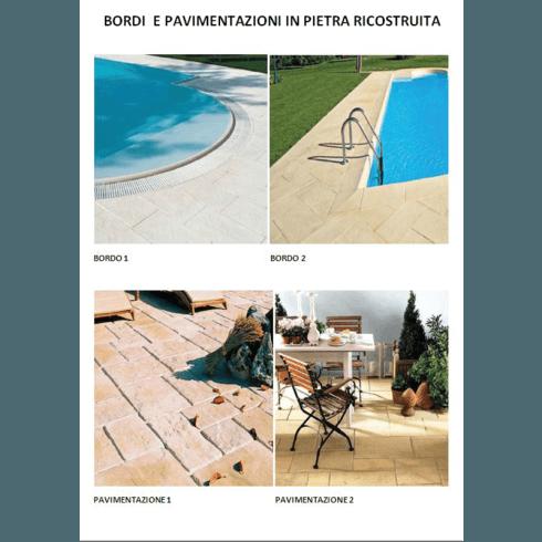 Bordi e pavimentazioni in pietra ricostruita