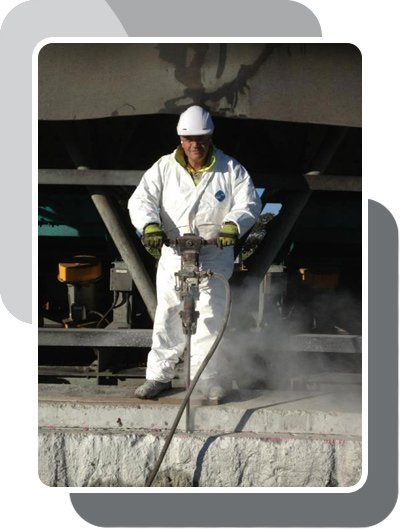 A man providing concrete repair Perth