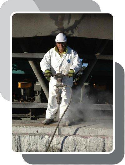 A man providing concrete repair Perth